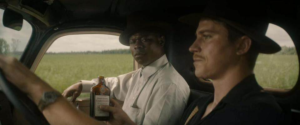 "Jason Mitchell and Garrett Hedlund in ""Mudbound."""