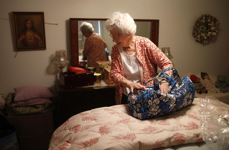 Doris Toohey packed a bag as she prepared for her temporary move to the Marriott Residence.