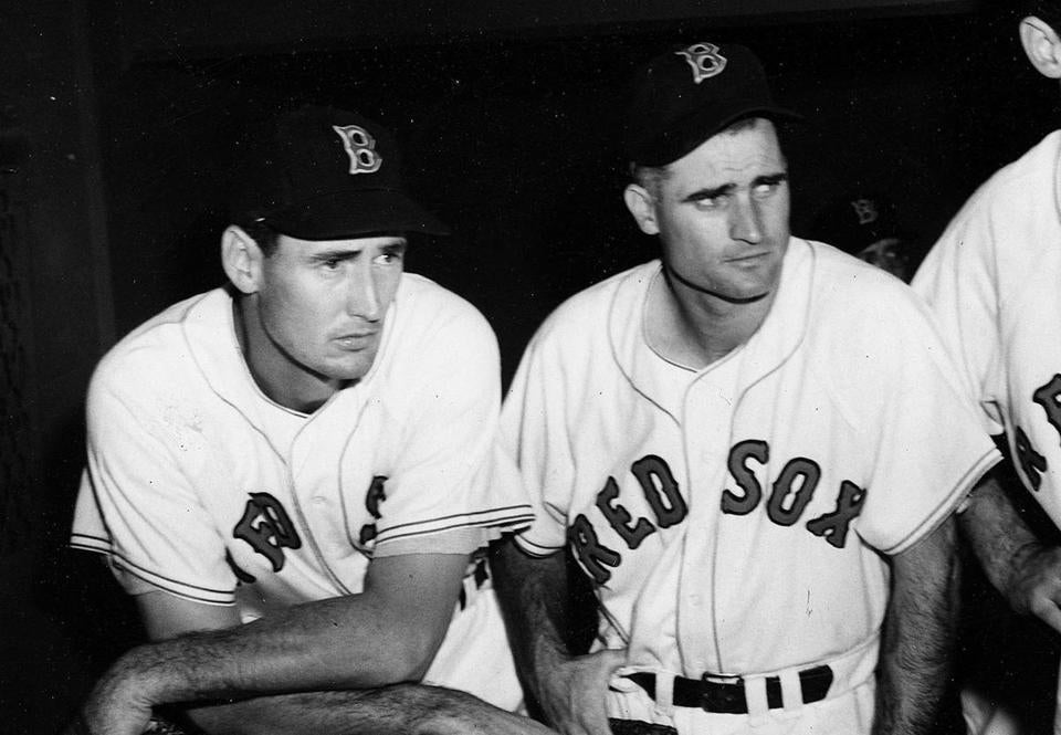 Bobby Doerr (right), with fellow Hall of Famer Ted Williams in 1950.