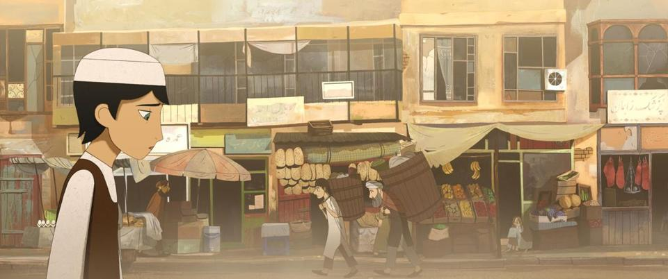 "The character Parvana in a scene from director Nora Twomey's ""The Breadwinner."""