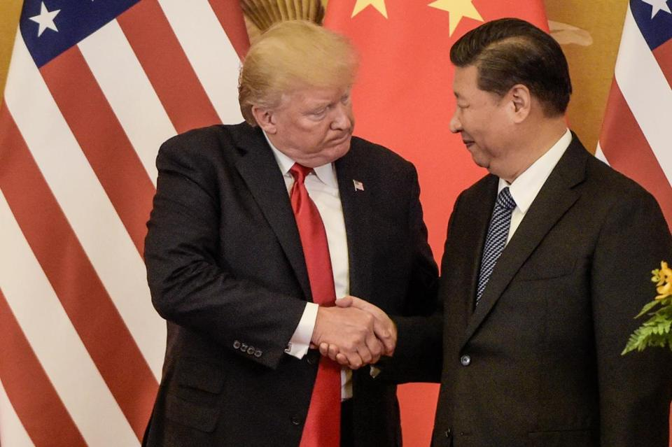 President Trump and President Xi Jinping of China shook hands earlier this month.