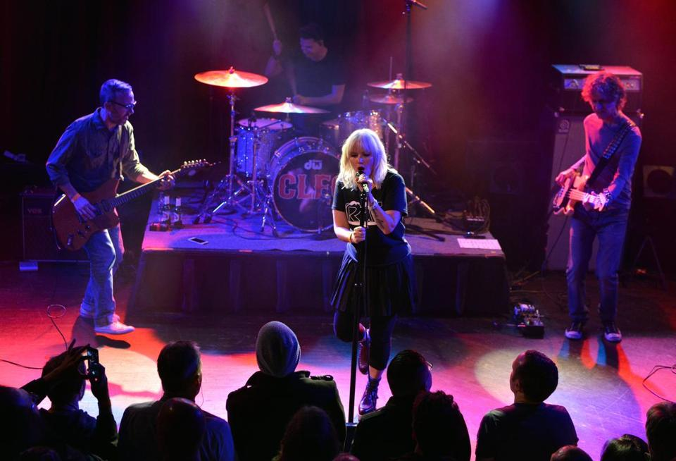 Letters to Cleo in concert at the Paradise. Josh Reynolds for The Boston Globe (Arts, Creamer)