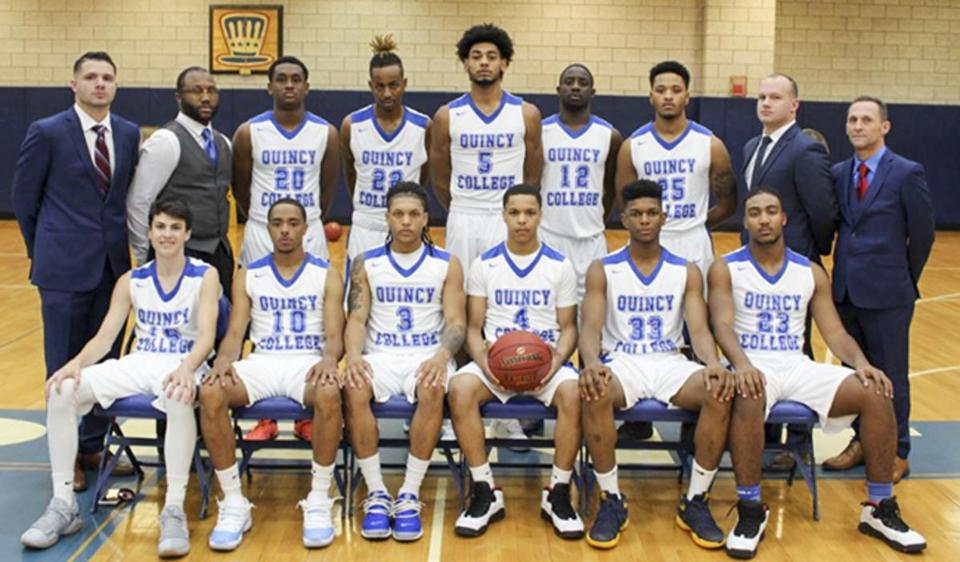 The Quincy College Granite Men's Basketball team played its first inaugural home 2017-2018 season game on Nov. 18.
