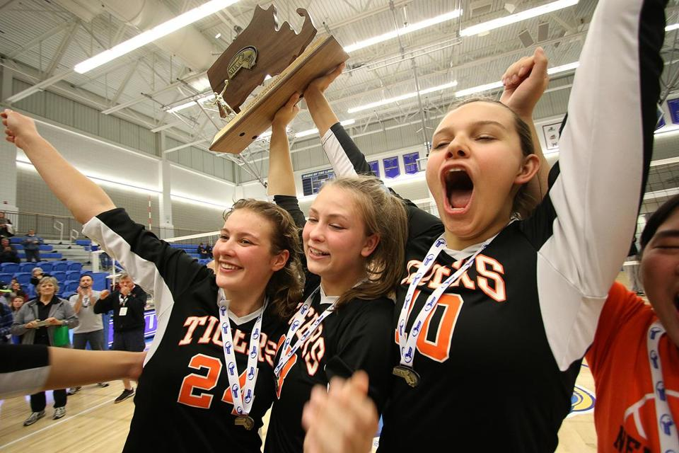 Newton North players got to raise a trophy — and their voices — after winning a state title.