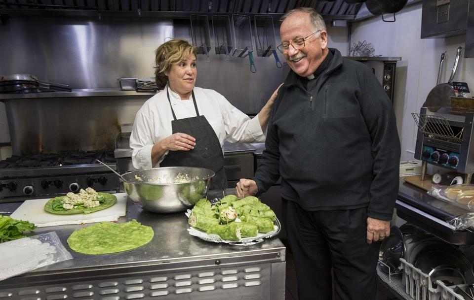Hoar spoke with chef Rosemary Brodeur at the St. Edmunds Retreat on Enders Island.