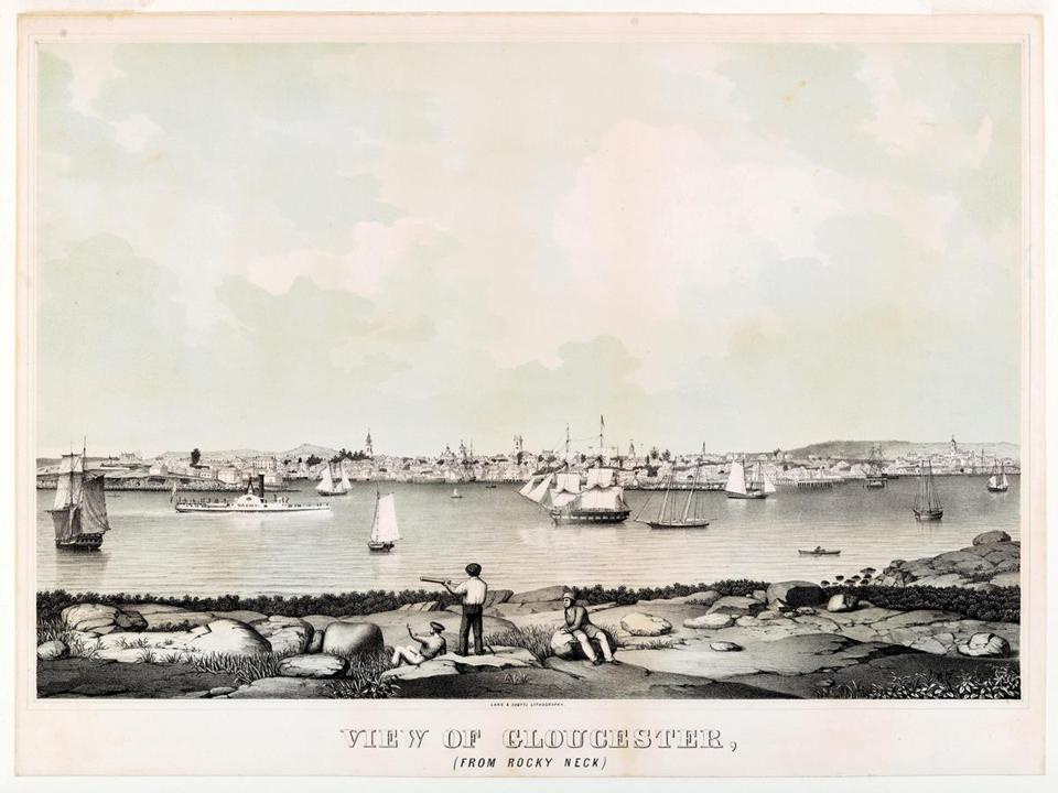 "Fitz Henry Lane's ""View of Gloucester From Rocky Neck."""