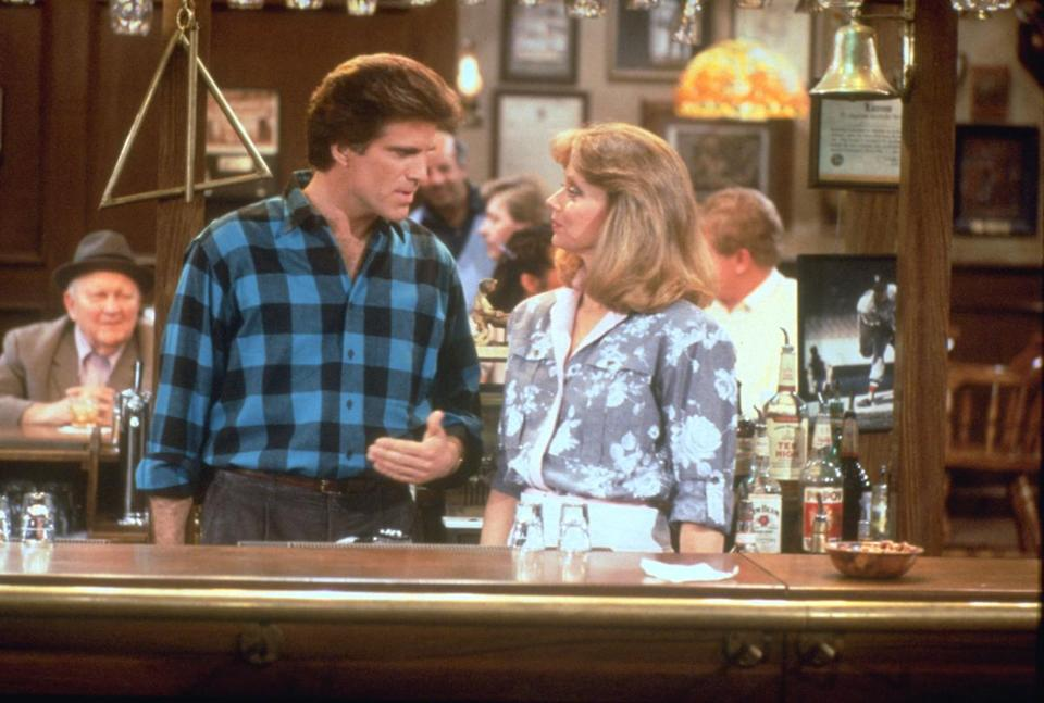 """Cheers"" was able to survive without Shelley Long (above, with Ted Danson)."