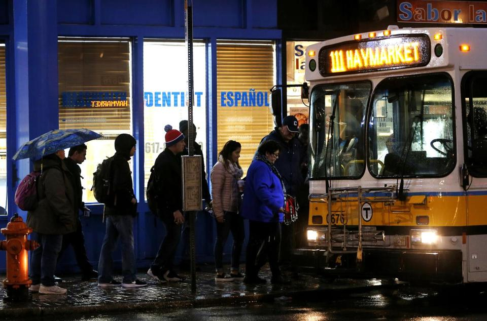 On some MBTA bus lines, as many as 20 percent of the riders pay with cash when they board a bus.