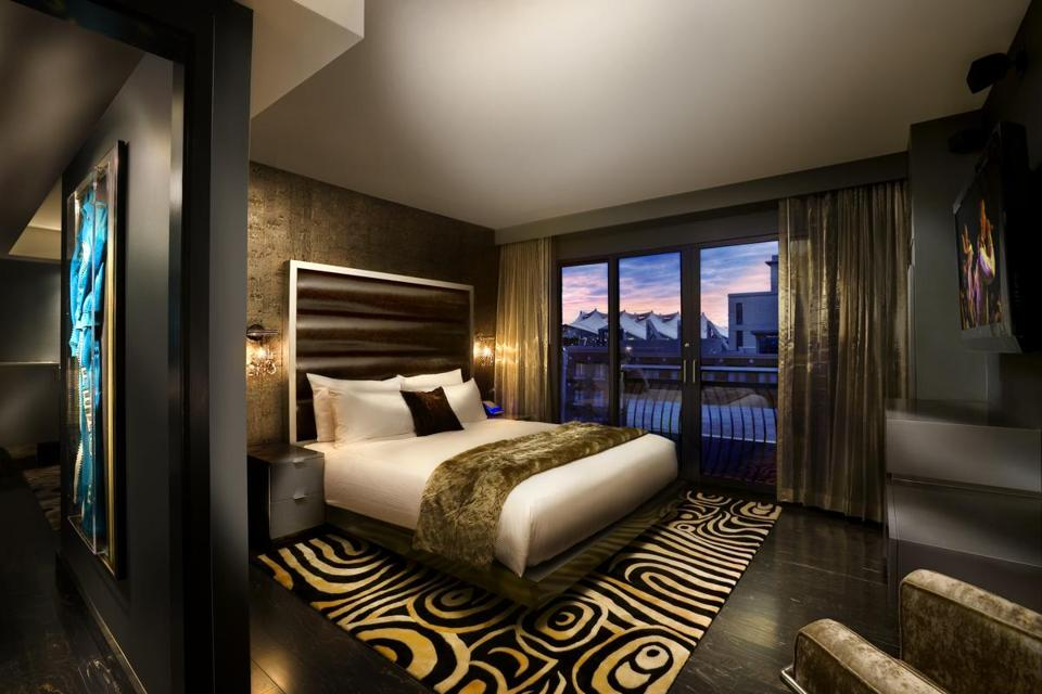 A room at the Hard Rock Hotel, San Diego.