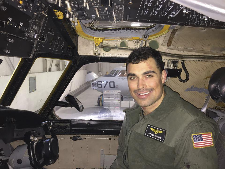 Lieutenant Steven Combs died Friday when a US Navy transport plane crashed off the coast of Japan.