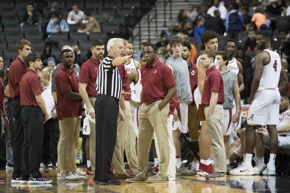 By the time officials cleared up their ruling with Alabama coach Avery Johnson, he had lost nearly half his squad to ejections.