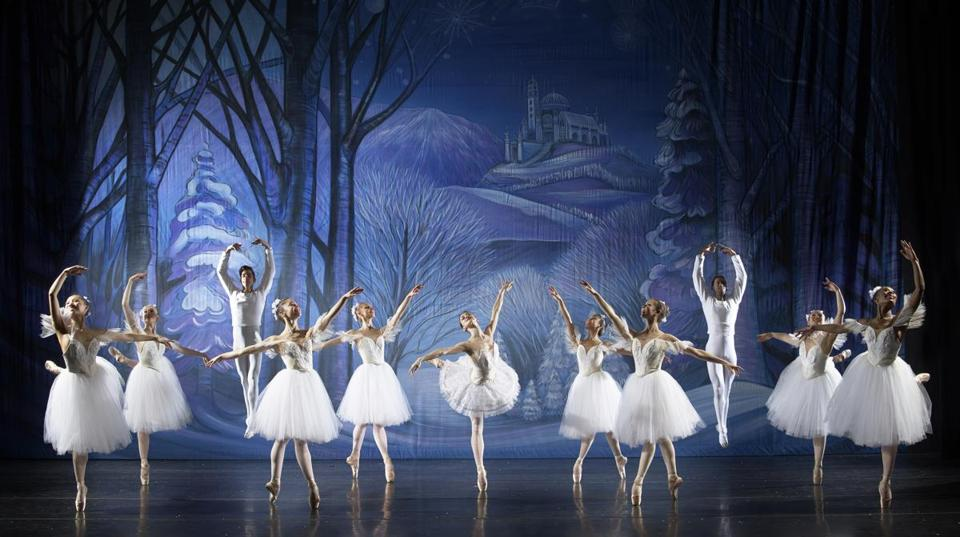 "Madeleine Bonn as the Snow Queen in José Mateo Ballet Theatre's production of ""The Nutcracker."""