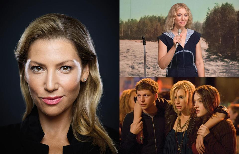 "Wellesley native Ari Graynor (left) has a role in James Franco's upcoming movie.  She plays Cassie in Showtime's ""I'm Dying Up Here"" (top right), and had a role in ""Nick & Norah's Infinite Playlist"" (bottom right)."