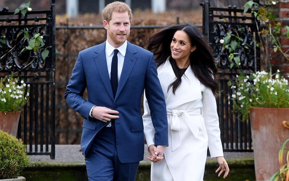 Prince Harry and Meghan Markle appeared on Monday in London.