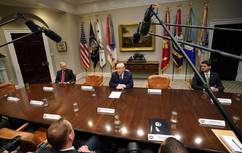 President Trump met with congressional leaders at the White House on Tuesday.