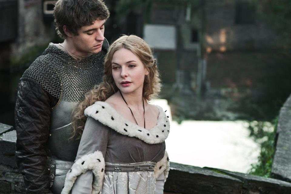"Max Irons and Rebecca Ferguson in ""The White Queen."""
