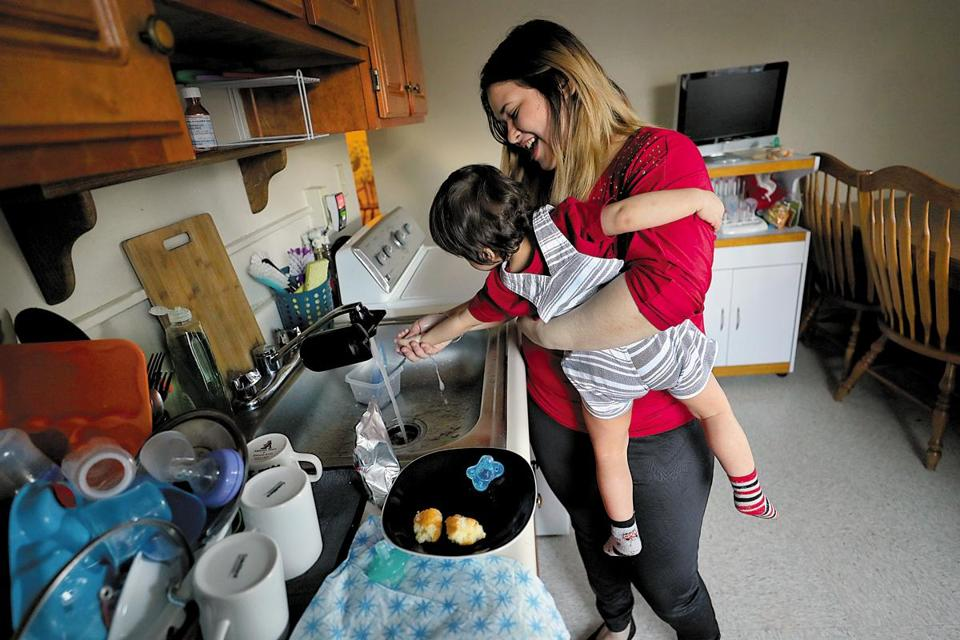 After Boston Medical Center helped Neslie Diaz and her son Angelov find housing, the 18-month-old started seeing improvements in his health and development.