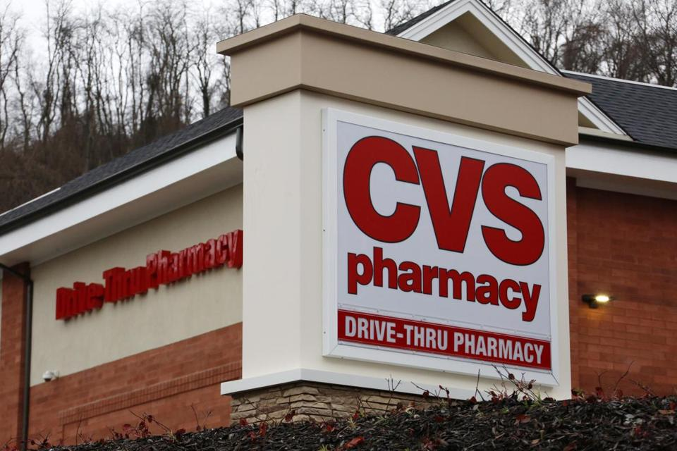 FILE - This Wednesday, Jan. 18, 2017, file photo shows a CVS Pharmacy in Pittsburgh. CVS Health Corp. reports earnings, Monday, Nov. 6, 2017. (AP Photo/Gene J. Puskar, File)