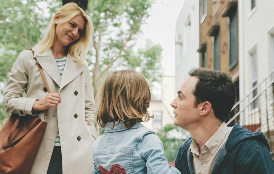 "Claire Danes and Jim Parsons star in ""A Kid Like Jake."""