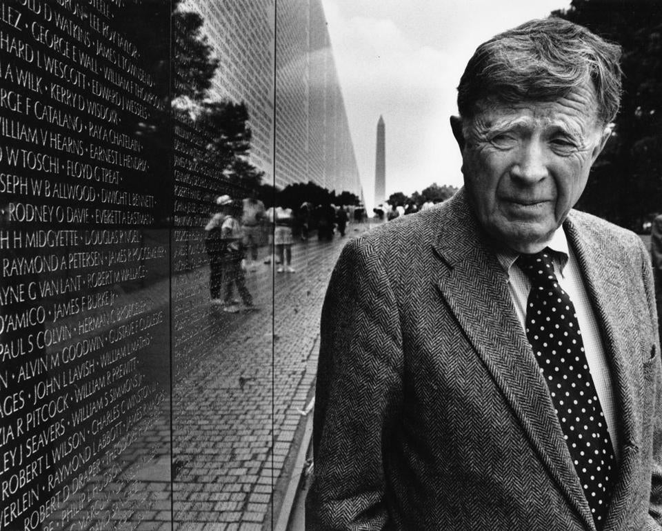 Mr. Scully in 1995 visited the Vietnam Veterans Memorial, which was designed by his former student, Maya Lin.