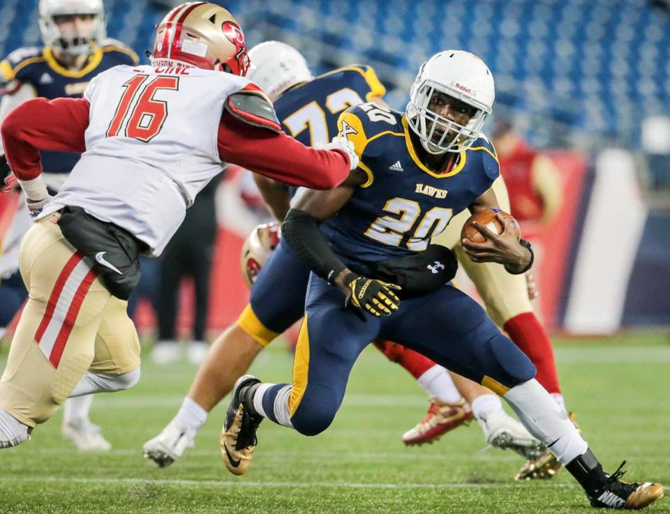 Xaverian's Ike Irabor had 14 carries for 97 yards and a touchdown Saturday.