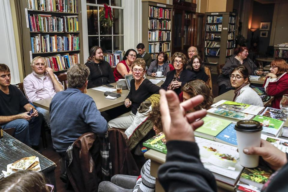 A Writers Night Out event at Portsmouth Book & Bar in Portsmouth, N.H.