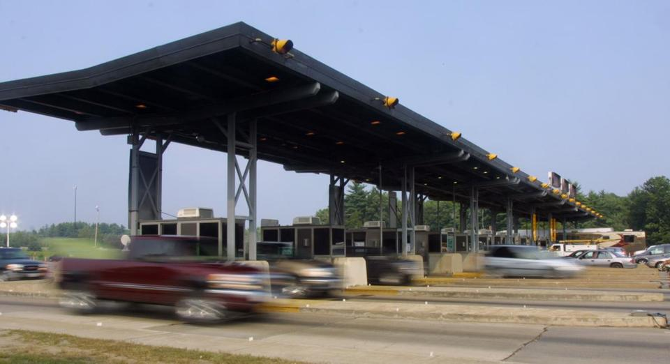 Drivers zipped through the Hampton tolls on Interstate 95.