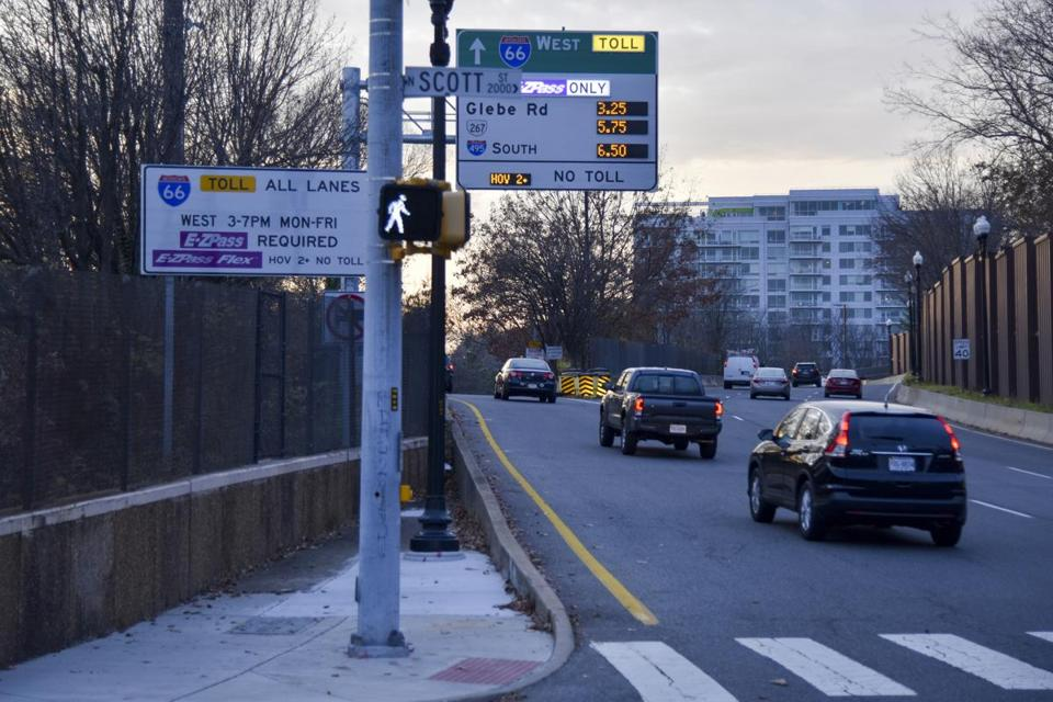 High toll charges continue Tuesday along parts of Interstate 66 Express Lanes