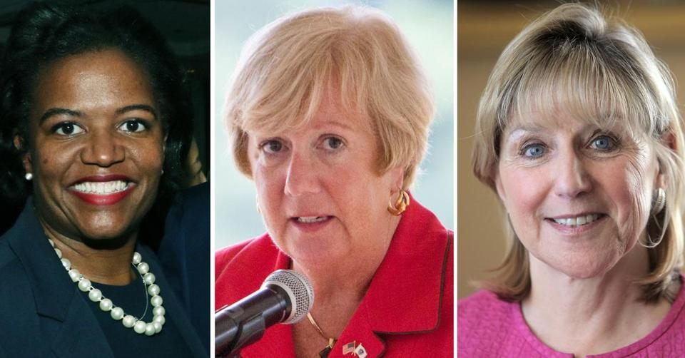 From left to right, State Senators Linda Dorcena Forry of Dorchester, Eileen M. Donoghue of Lowell, and Karen E. Spilka of Ashland.