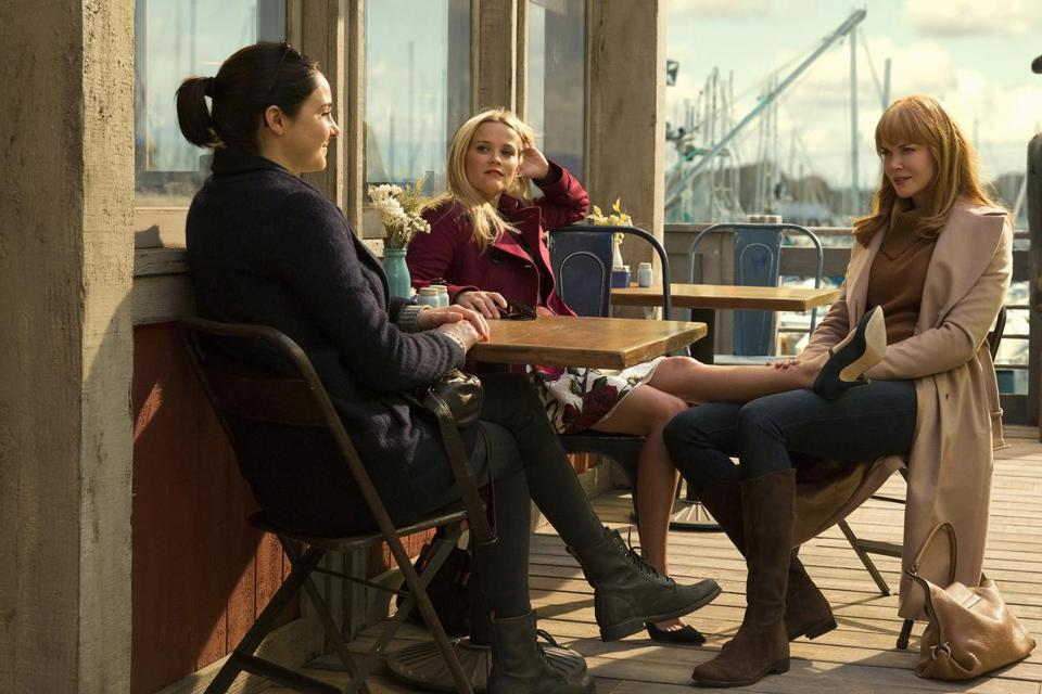 "From left: Shailene Woodley, Reese Witherspoon, and Nicole Kidman in ""Big Little Lies."""