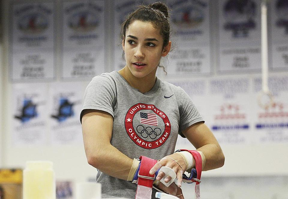 Burlington, MA., 01/12/12, Aly Raisman, cq, is training for the 2012 Olympics at Brestyan's Gymnastics. She is profiled. Section; Sports Suzanne Kreiter/Globe staff