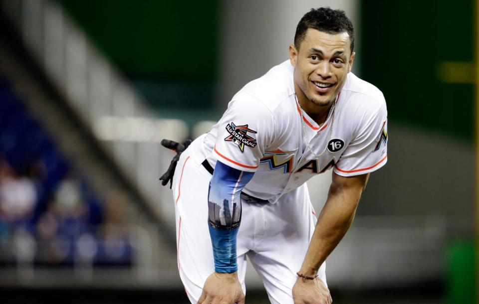 Giancarlo Stanton hit 59 home runs in 2017.