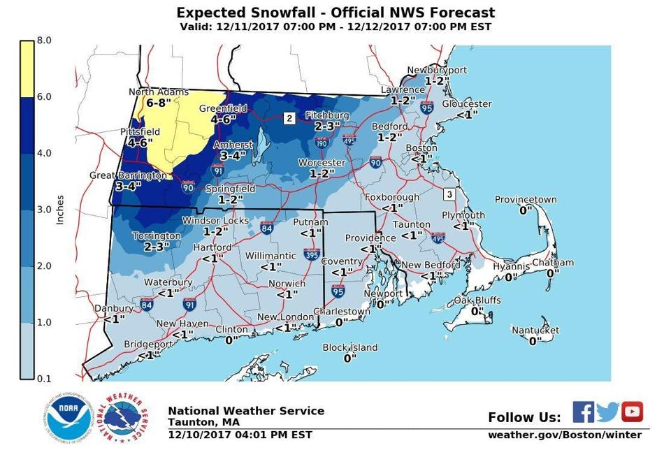 Winter storm warning remains in effect, 5-7 inches of snow forecast