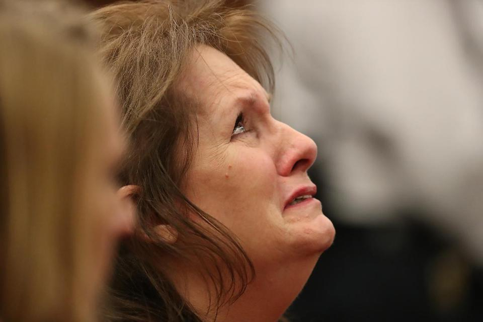 Messier's mother, Lisa Brown, reacted as the verdict was handed down.