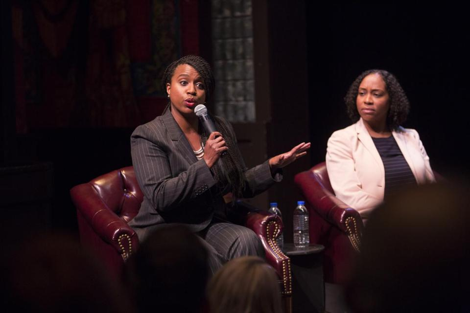 Ayanna Pressley (left), a 43-year-old Dorchester resident originally from Chicago, was first elected in 2009.