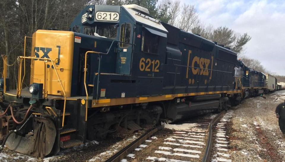 Train Derails, Spilling 1800 Gallons of Fuel in Taunton, Massachusetts