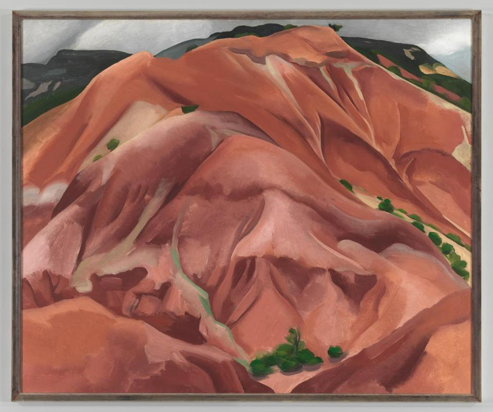 "Georgia O'Keeffe's landscape painting ""The Mountain, New Mexico."""