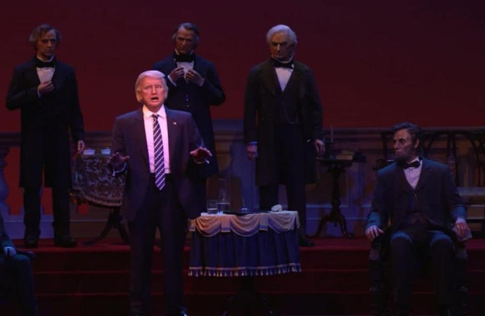 Donald Trump's Animatronic in Disney World's Hall of Presidents Raises Eyebrows
