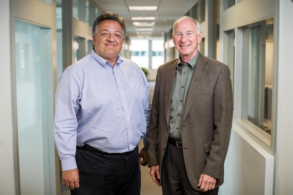 Flagship Pioneering CEO Noubar Afeyan (left) and the venture capital firm's chief medical officer, Michael Rosenblatt.