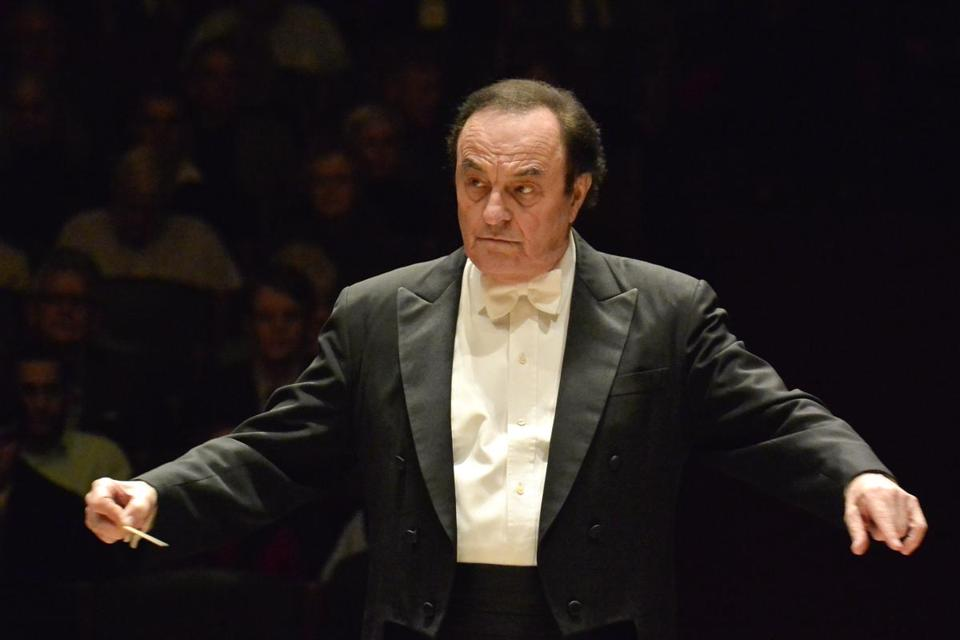 Conductor Charles Dutoit at Symphony Hall.