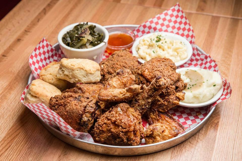 A whole fried chicken at Highland Fried in Cambridge.