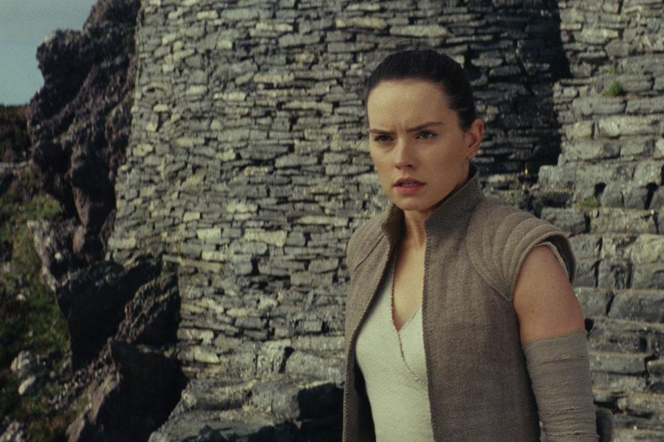 "Daisy Ridley in a scene from ""Star Wars: The Last Jedi."""