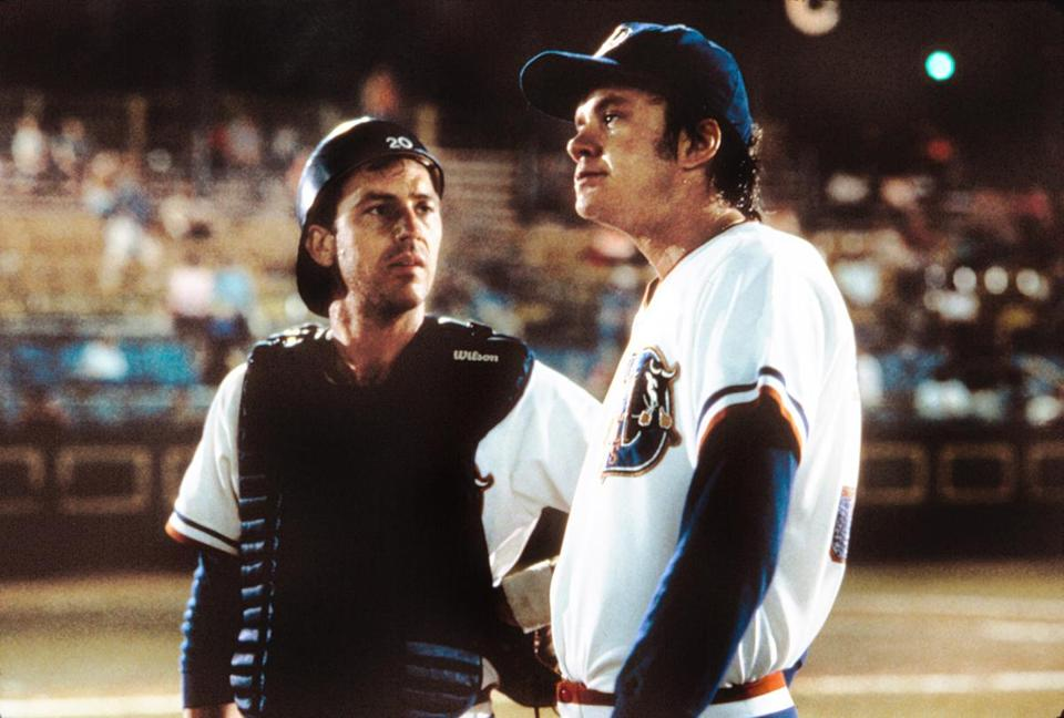 "Kevin Costner and Tim Robbins in ""Bull Durham,"" chosen by Cal Ripken Jr."