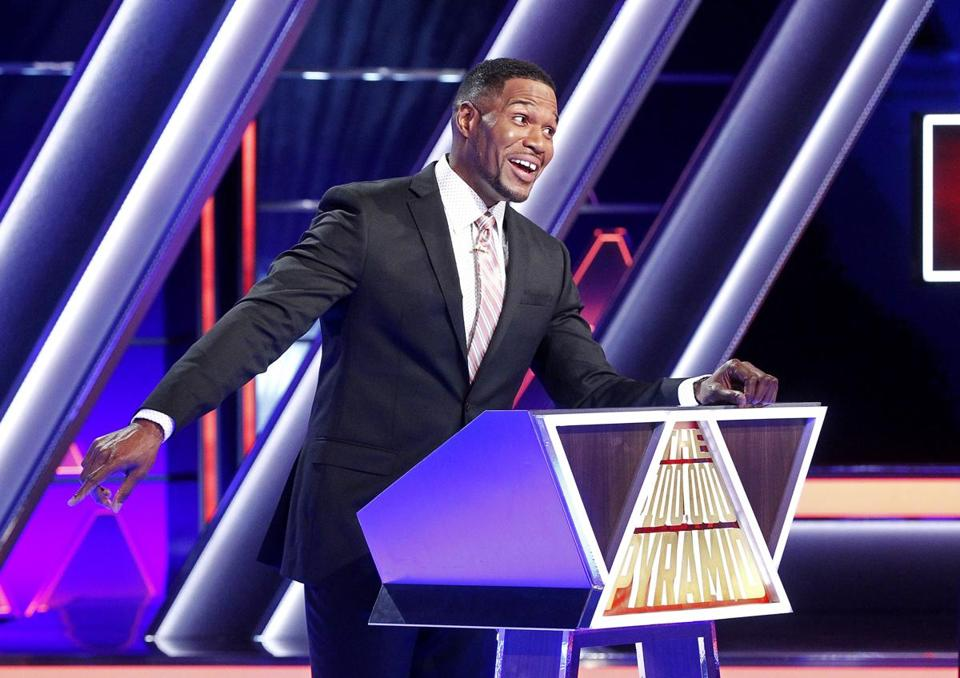 "Michael Strahan hosts ""The $100,000 Pyramid."""