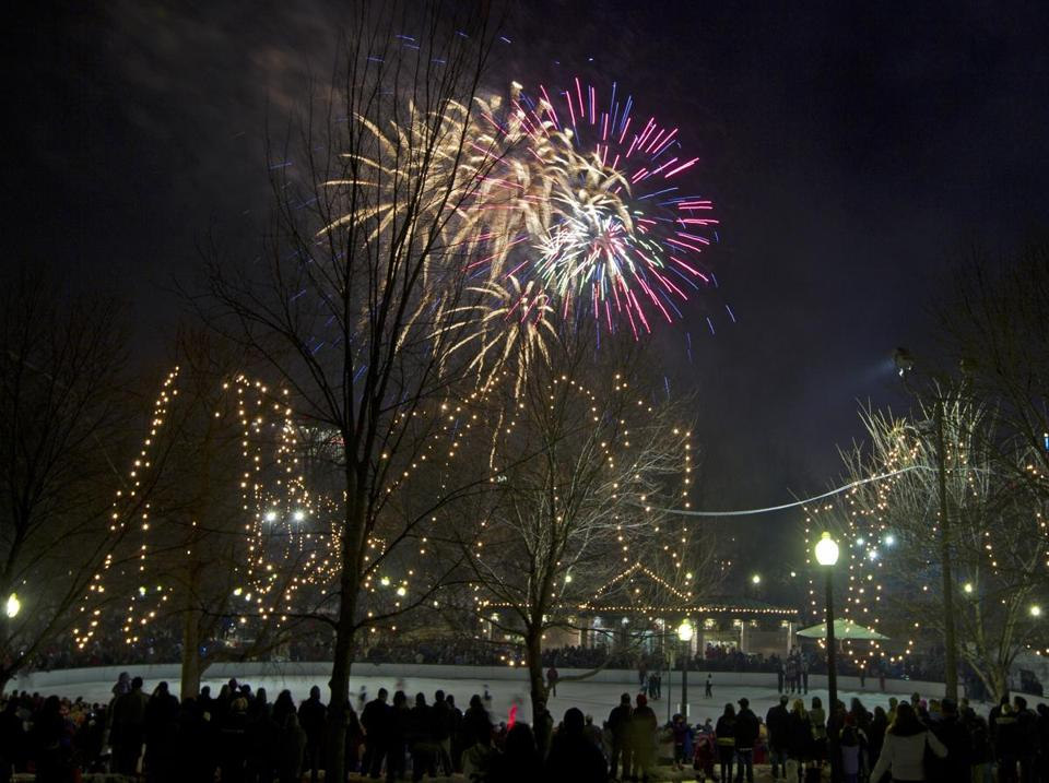 Fireworks are part of New Year's Eve in Boston.