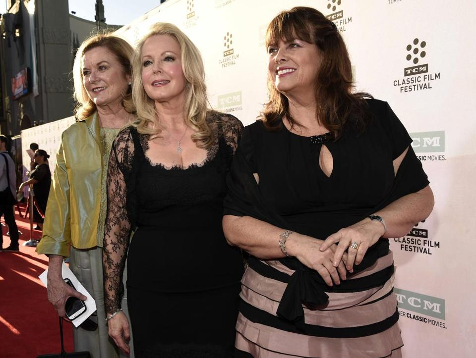 "Heather Menzies-Urich (left) posed with her castmates from ""The Sound of Music"" Kym Karath (center) and Debbie Turner."