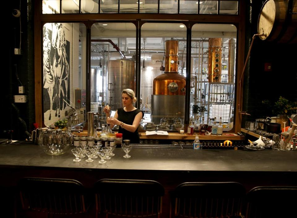 Boston Ma 04/12/2017 Alex Koblan (cq) event and tasting room manager at Bully Boy Distillers new Facilities. She was in the tasting room. Jonathan Wiggs /GlobeStaff) Reporter:Topic
