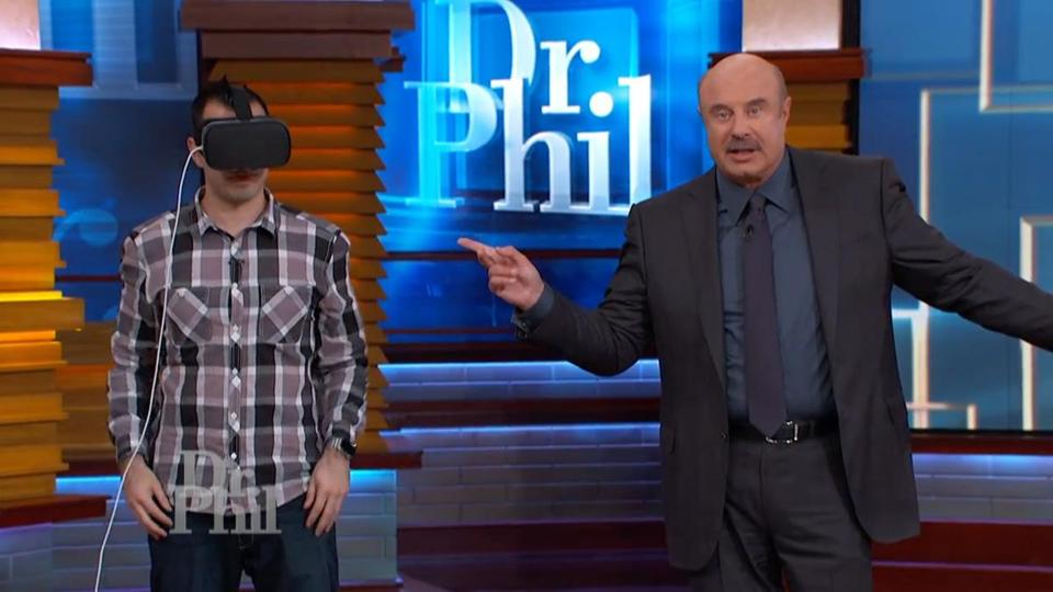 """Dr. Phil"" host Phillip McGraw demonstrated the Path to Recovery virtual reality product on his show."
