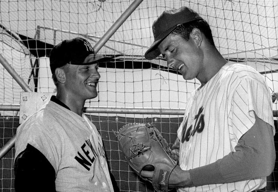 Tracy Stallard (right, as a New York Met) with Roger Maris in 1963.