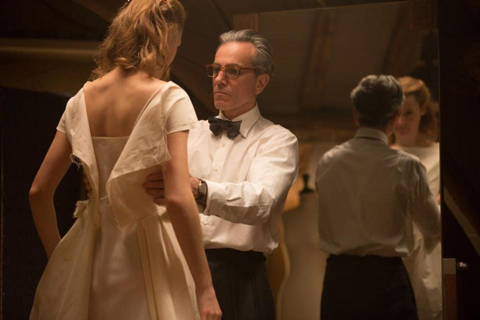 "Vicky Krieps and Daniel Day-Lewis in Paul Thomas Anderson's ""Phantom Thread."""